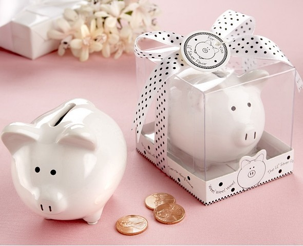 """Li'l Saver Favor"" Ceramic Mini-Piggy Bank in Gift Box"