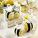 """Mommy and Me"" Ceramic Honeybee Salt & Pepper Shakers"