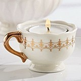Kate Aspen Classic Gold Teacups Tealight Holder (Set of 4)