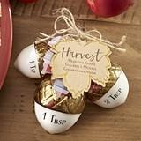 Kate Aspen Gold-Dipped Ceramic Acorn Measuring Spoons Set