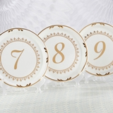 Kate Aspen Tea Time Vintage-Inspired Plate Table Numbers (7 - 12)