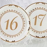 Kate Aspen Tea Time Vintage-Inpsired Plate Table Numbers (13 - 18)