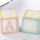 Kate Aspen Adorable Baby Blocks Salt & Pepper Shakers (Set of 2)