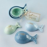 Kate Aspen Ceramic Whale-Shaped Measuring Spoons (Set of 3)