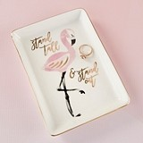 Kate Aspen Ceramic 'Stand Tall & Stand Out' Flamingo Trinket Dish