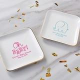 Kate Aspen Personalized Ceramic Jewelry Trinket Dish (Baby Shower)
