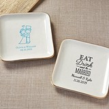 Kate Aspen Personalized Ceramic Jewelry/Trinket Dish (Wedding Designs)
