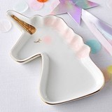 Kate Aspen Ceramic Unicorn with Gold Foil Horn Trinket Dish