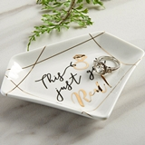 "Kate Aspen ""This Just Got Real"" Ceramic Trinket Dish"