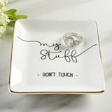 "Kate Aspen Sassy ""My Stuff Don't Touch"" Ceramic Trinket Dish"