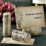Elegant Maison du Vin Wine Cork Placecard/Picture Holders (Set of 4)