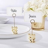 Stacked LOVE Design Gold-Finish Place Card Holder (Set of 6)