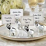 Stunning Silvered Elephant-Shaped Placecard/Picture Holders (Set of 4)