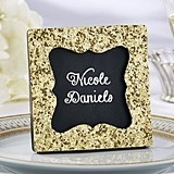 Kate Aspen All That Glitters Gold Frame/Chalkboard Place Marker