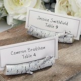 "Kate Aspen White ""Birch"" Place Card Holder (Set of 6)"