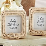 """Tied with Love"" Nautical Rope Frame/Place Card Holder"