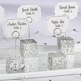 Kate Aspen Silver Glitter Placecard Holders (Set of 6)