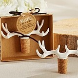 "Kate Aspen ""Rustic Charm"" Antler-Topped Cork Bottle Stopper"