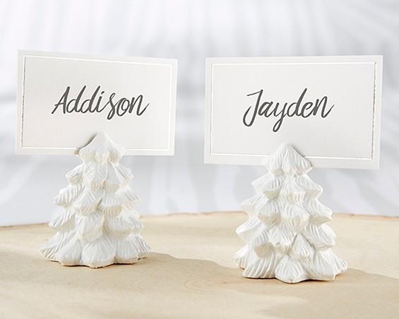 Kate Aspen White Pine Tree Place Card Holders (Set of 6)