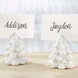 Kate Aspen White Pine Tree Place Card Holders (Set of 6)