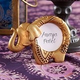 Kate Aspen Lucky Golden Elephant Frames/Place Card Holders