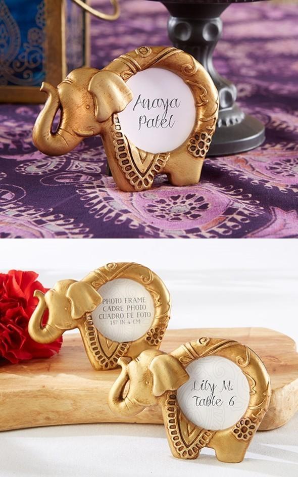 Kate Aspen Lucky Golden Elephant Frames/Place Card Holders ...