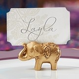 Kate Aspen Lucky Golden Elephant Place Card Holders (Set of 6)