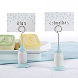 Kate Aspen Classic Blue Baby-Bottle-Shaped Place Card Holder