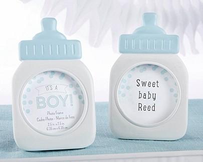 """It's a Boy!"" Blue Baby Bottle Frame/Place Card Holder"