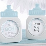 """It's a Boy!"" Blue Baby Bottle Frame/Place Card Holder"
