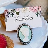 Kate Aspen Vintage-Inspired Cameo Place Card Holders (Set of 6)