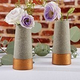 Kate Aspen Copper and Concrete Look Bud Vases (Set of 4)