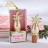 Kate Aspen 'Pineapples & Palms' Gold-Colored Pineapple Bottle Stopper