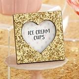 Kate Aspen Gold Glitter Heart Cutout Frame/Place Card Holder