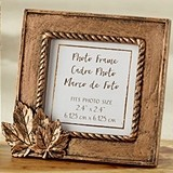 Kate Aspen Copper-Colored Frame/Place Card Holder with Leaf Motif