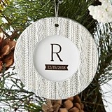 Kate Aspen Cable Knit Pattern Ornament/Place Card Holder/Frame