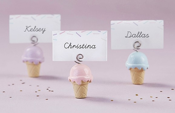 Kate Aspen Ice Cream Place Card Holder (Set of 6)