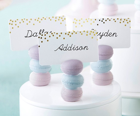 Kate Aspen Stack of Macarons Place Card Holders (Set of 6)