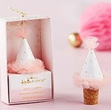 Kate Aspen Pink Party Hat Bottle Stopper