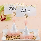 Kate Aspen Pink Party Hat Place Card Holders (Set of 6)