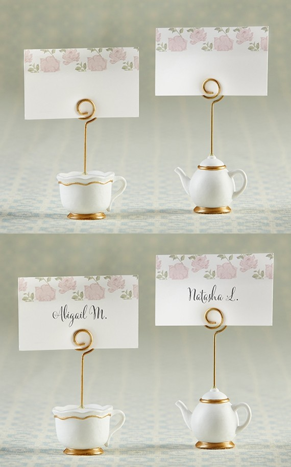 """Kate Aspen """"Tea Time Whimsy"""" Place Card Holders (Set of 6)"""