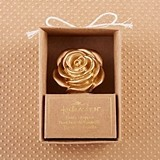 Kate Aspen Metallic Gold Rose-Topped Cork Bottle Stopper