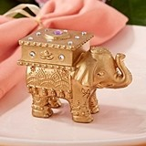 Kate Aspen Lucky Golden Elephant Trinket Box with Rhinestone Accents