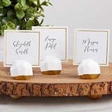 Kate Aspen Geometric Place Card Holders w/ Gold Foil Detail (Set of 6)