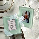 Kate Aspen Classic Frosted Glass Picture Coasters (Set of 2)
