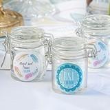 Kate Aspen Boho Chic Designs Personalized Glass Favor Jars (Set of 12)