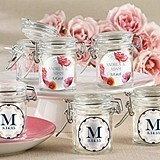 Kate Aspen Botanical Designs Personalized Glass Favor Jars (Set of 12)