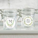 Kate Aspen Botanical Garden Personalized Glass Favor Jars (Set of 12)