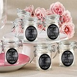 Eat, Drink & Be Married Personalized Glass Favor Jars (Set of 12)