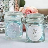 Personalized Glass Favor Jars with Ethereal Dream Designs (Set of 12)